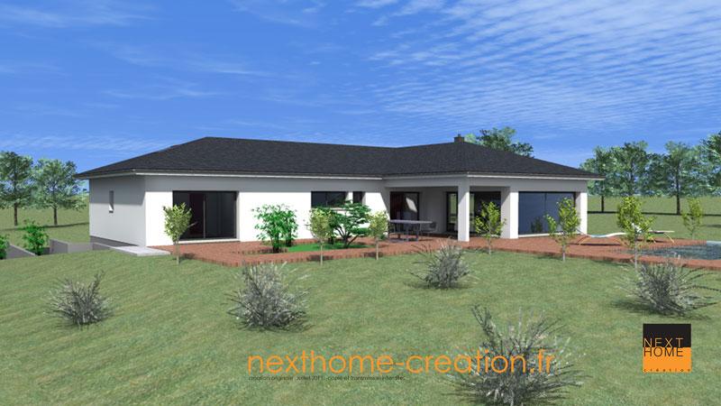 Maison plain pied moderne nexthome cr ation for Constructeur maison contemporaine haut rhin