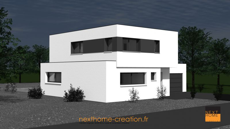 Maison toit plat design et moderne nexthome cr ation for Garage toyota haut rhin