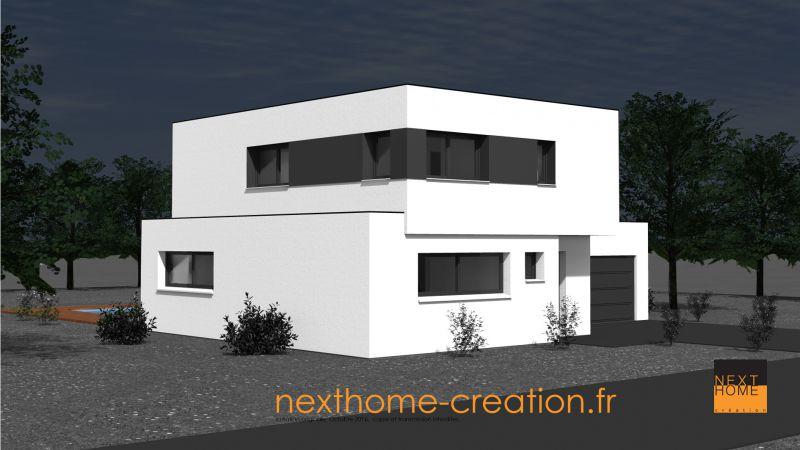 Maison toit plat design et moderne nexthome cr ation for Maison et creation
