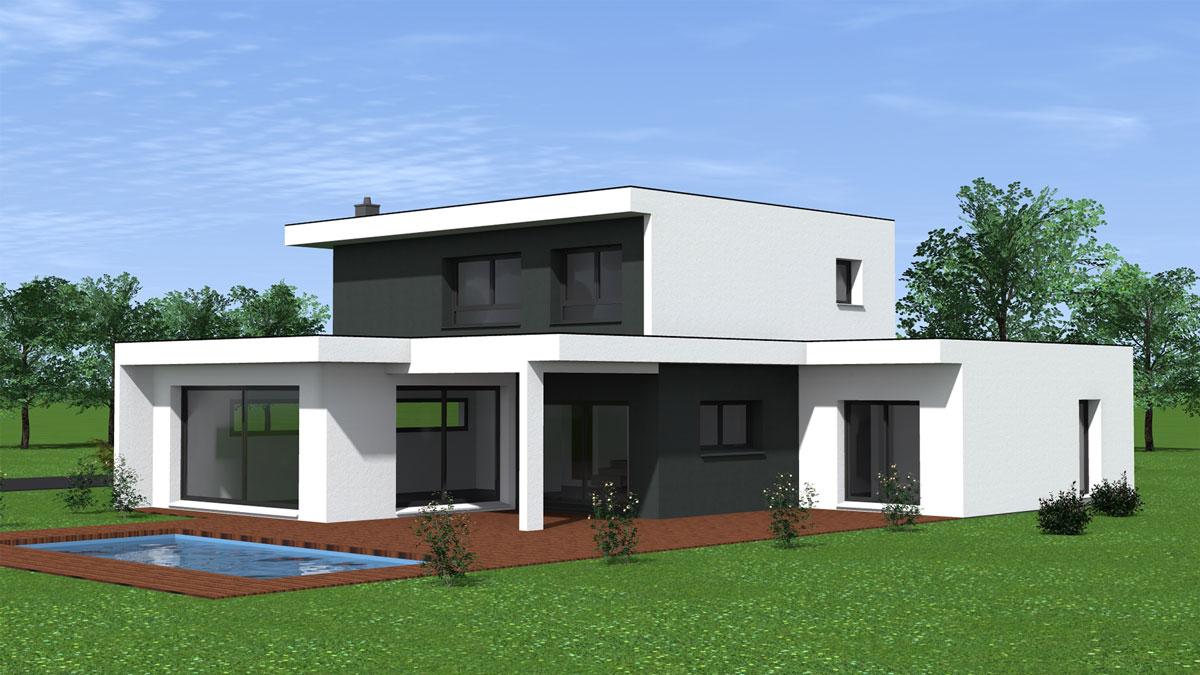 Maison toit plat vgtalis finest maison toit zinc good une extension de maison en bois with for Maison toit plat etage