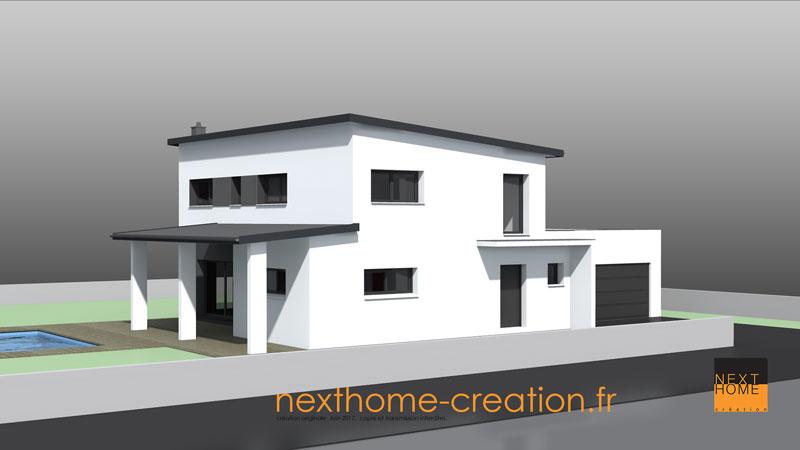Maison monopente moderne nexthome cr ation for Constructeur maison contemporaine haut rhin
