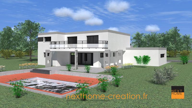 Maison Plain Pied Moderne Toit Plat. Interesting Plans Maison Maison ...
