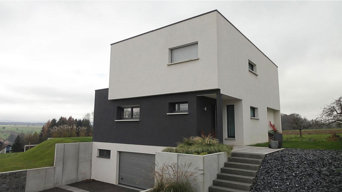 Good maison toit plat with maison toit plat en l for Faux toit plat