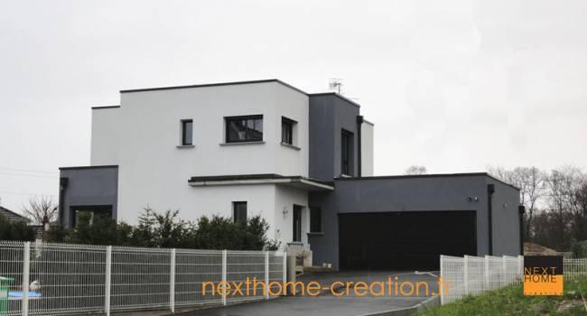 Nexthome cr ation construction maison toit plat 68 for Constructeur maison moderne toit plat