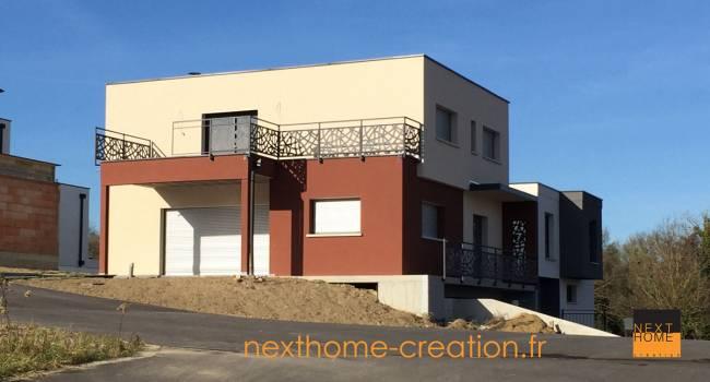 Nexthome constructeur de maison moderne dans le haut rhin maisons contemporaines nexthome for Maison toit plat alsace