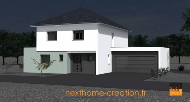 Construisez votre maison moderne dans le haut rhin for Maison a 4 pans
