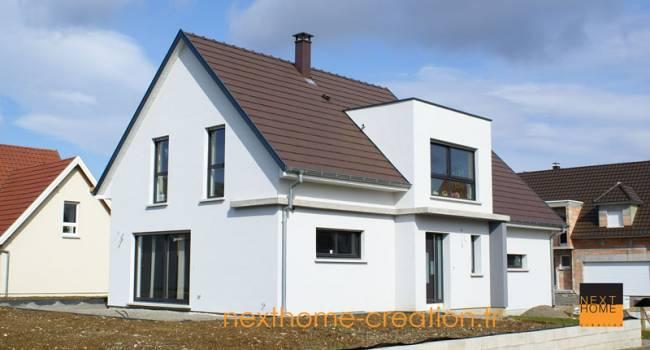 Nexthome cr ation construction maison 2 pans 68 for Constructeur maison contemporaine haut rhin