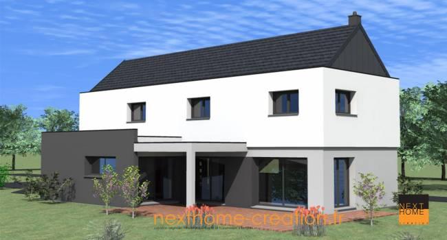 Nexthome cr ation construction maison 2 pans haut rhin for Garage 2 pans