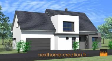 Maison contemporaine 2 pans nexthome cr ation for Garage volkswagen haut rhin