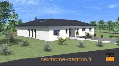 Maison plain pied moderne - Nexthome Création