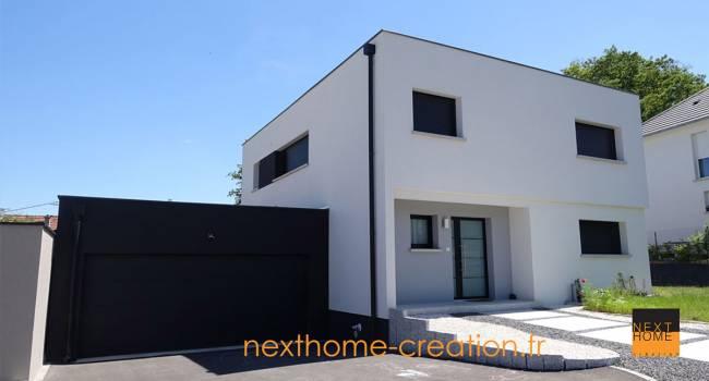 Nexthome cr ation construction maison toit plat 68 constructeur maison haut rhin for Realisation toit plat