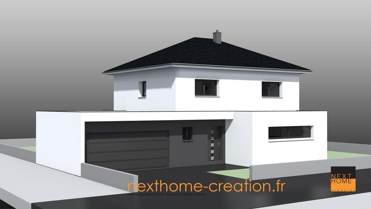 Maison Contemporaine Toiture 4 Pans Nexthome Creation