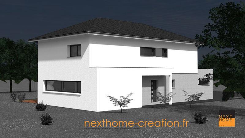 maison contemporaine 4 pans r 1 nexthome cr ation. Black Bedroom Furniture Sets. Home Design Ideas