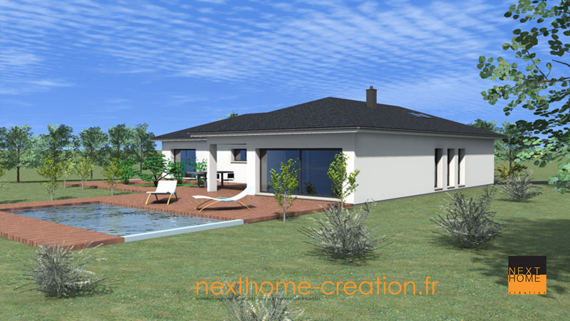 maison plain pied moderne nexthome cr ation. Black Bedroom Furniture Sets. Home Design Ideas