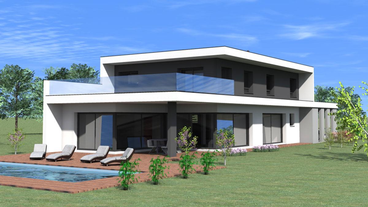 Maison D Architecte A Toit Plat Nexthome Creation Nexthome