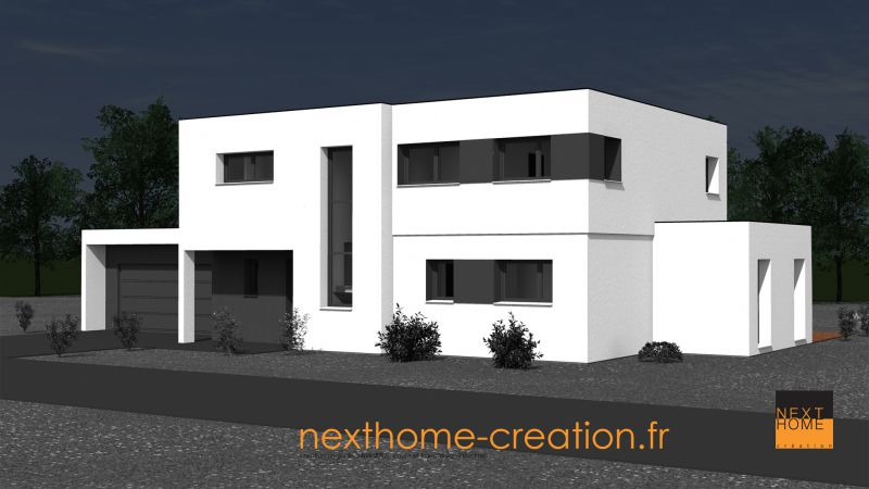 Maison design et contemporaine toit plat nexthome cr ation for Garage toyota haut rhin
