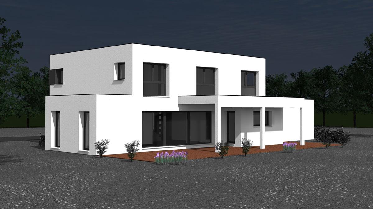 Maison Design Toit Plat maison design et contemporaine à toit plat - nexthome création