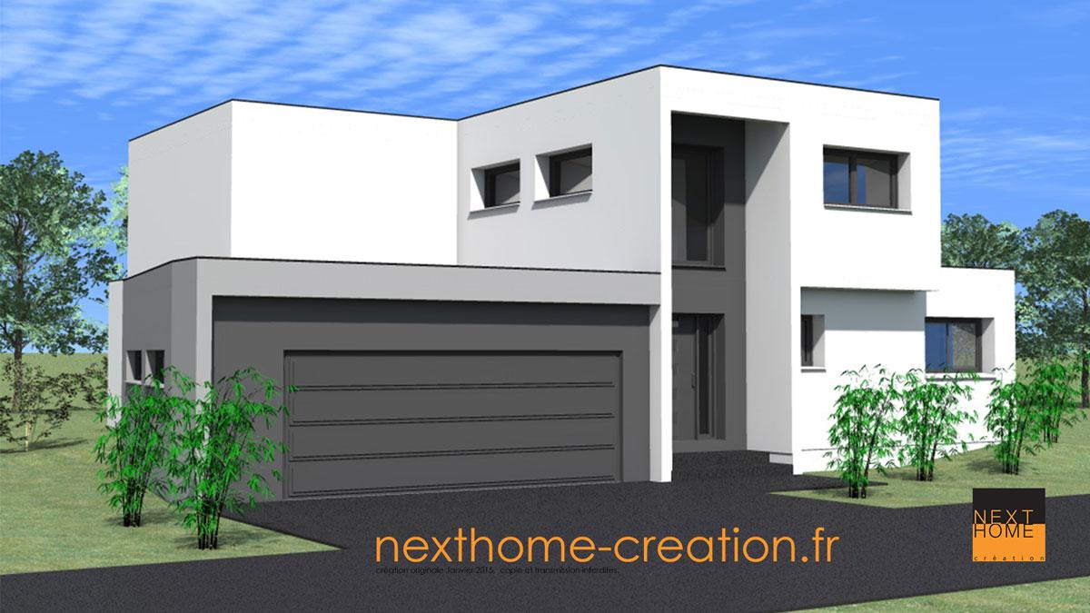 Maison toit plat architecture contemporaine nexthome cr ation for Maison toit plat alsace
