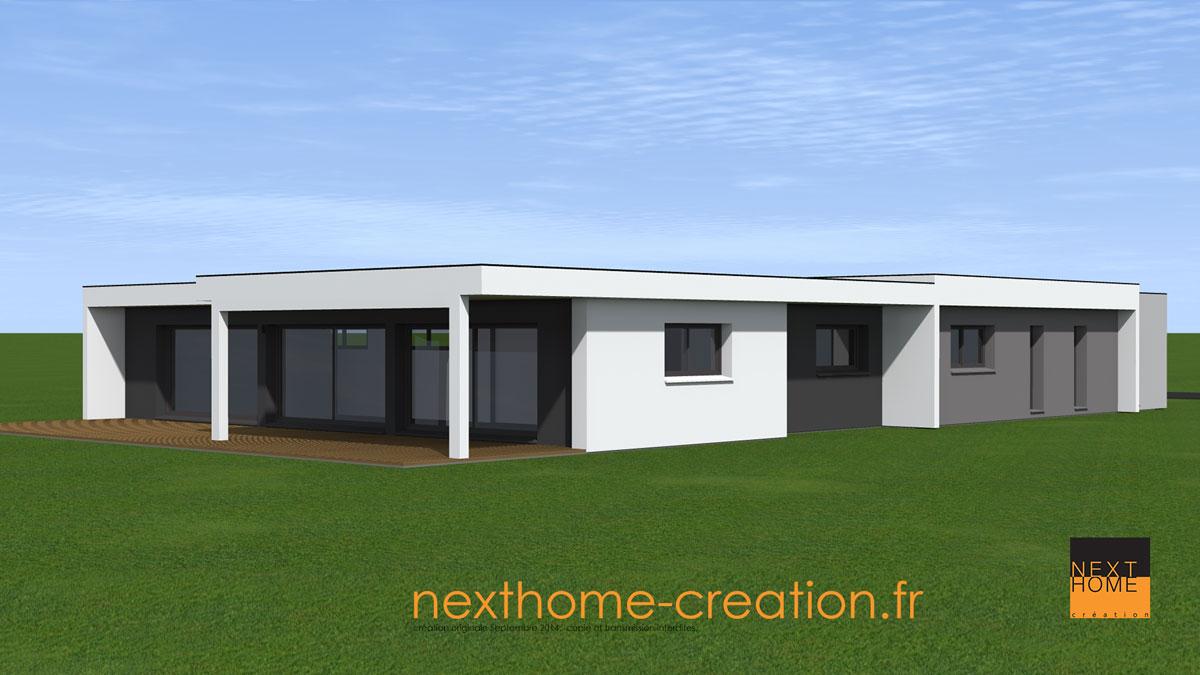 Plain pied toiture toit plat Alsace - Nexthome Création