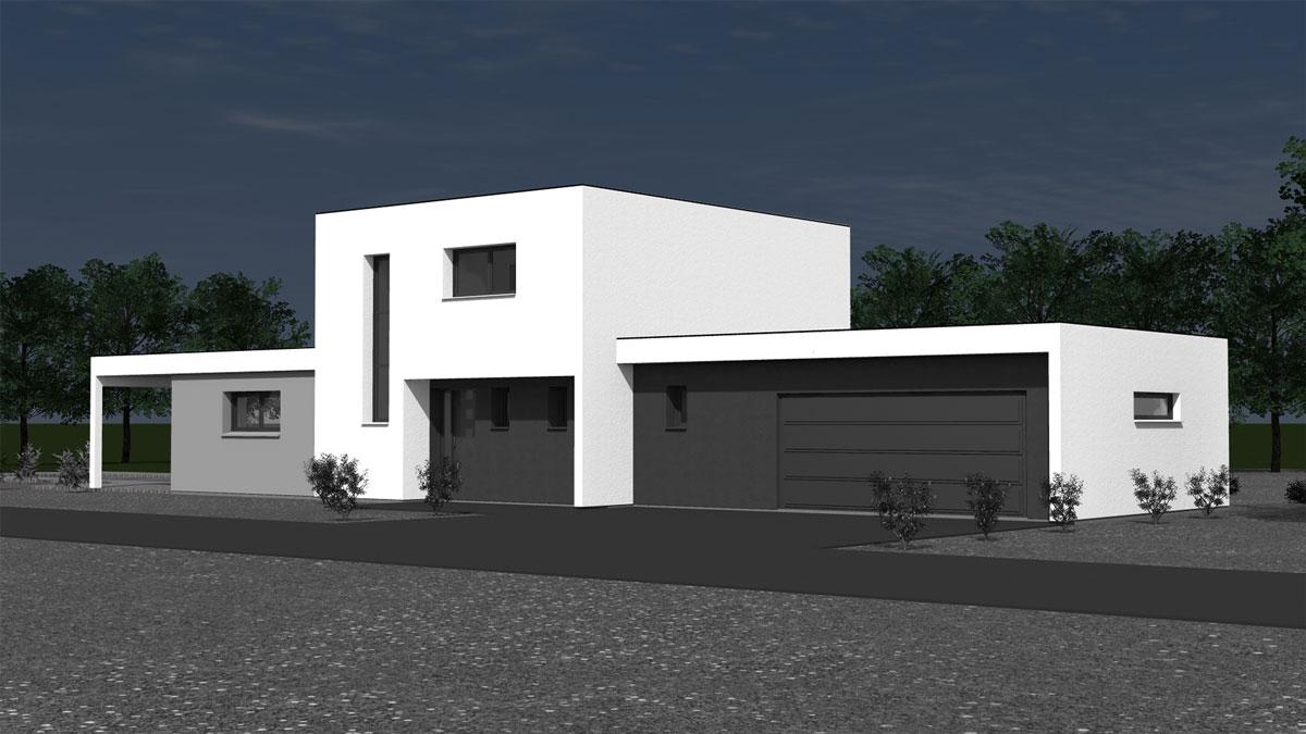 Maison d\'architecte contemporaine à toit plat - Nexthome Création