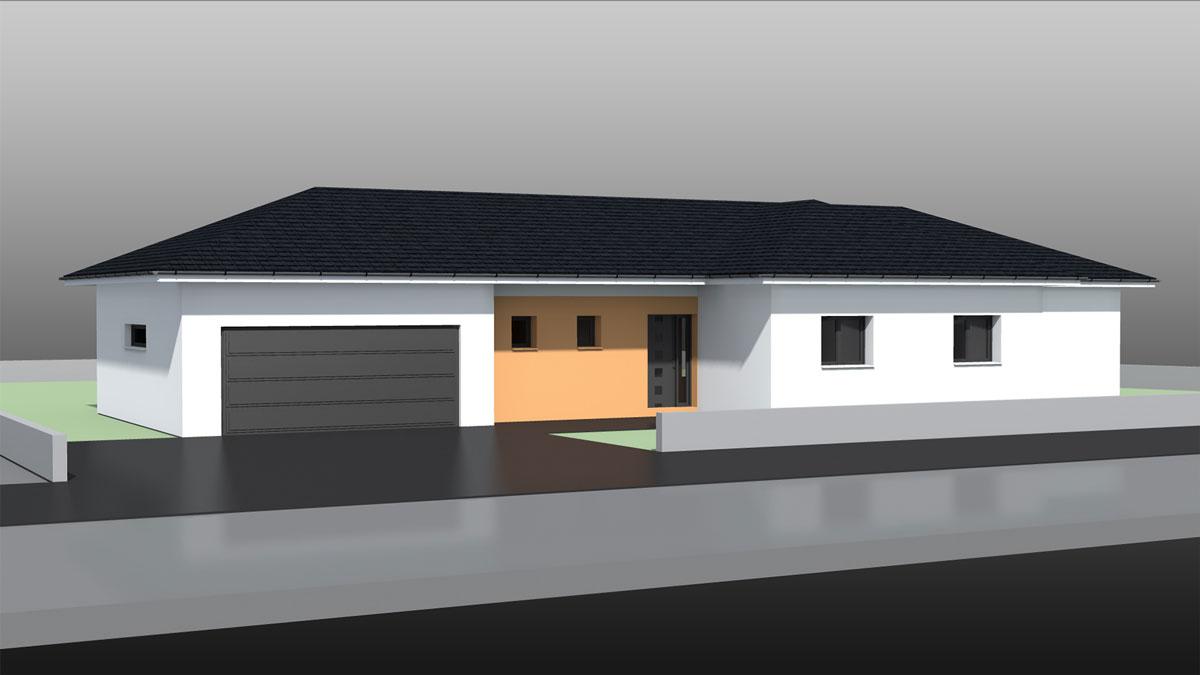 Maison toit 4 pans plein pied ventana blog - Maison plain pied toit monopente ...