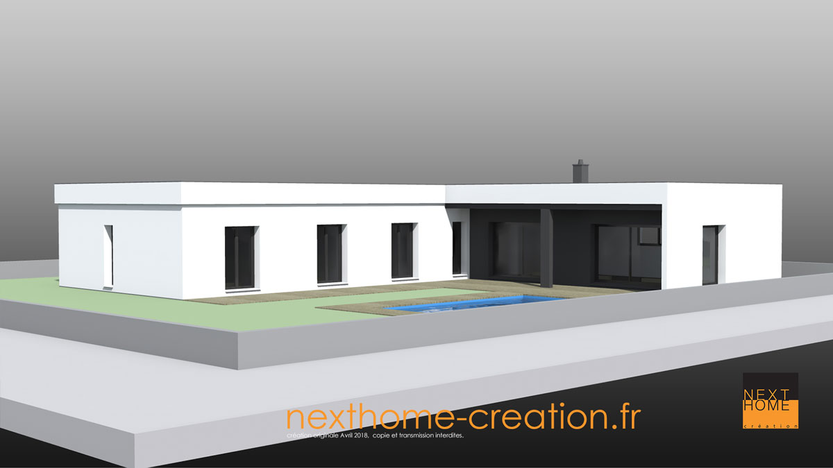 Maison Plain Pied Toit Plat Nexthome Creation