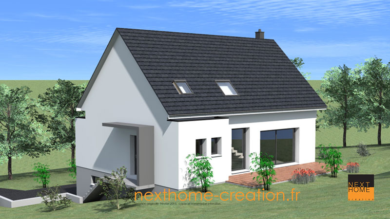 Maison 2 pans garage sous sol nexthome cr ation for Garage toyota haut rhin