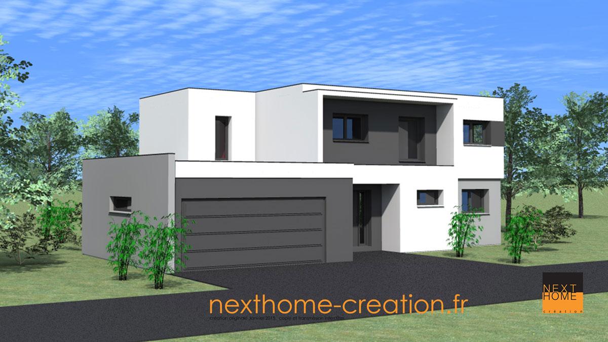 Maison Toit Plat Moderne maison toit plat contemporaine - nexthome création