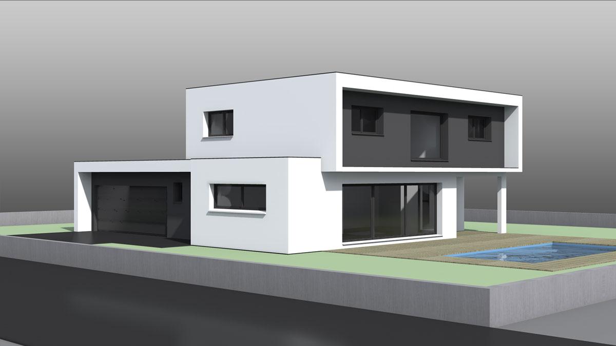 Maison d\'architecte moderne à toit plat - Nexthome Création