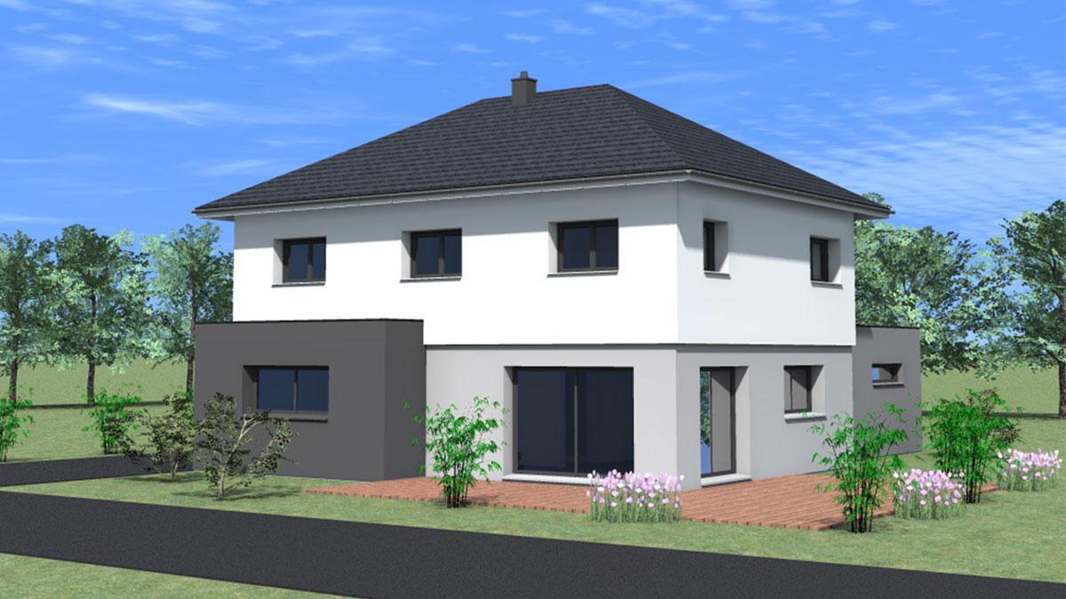 Maison moderne avec toit 4 pans - Nexthome Création