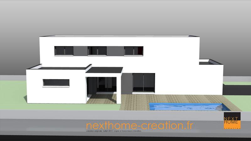 Maison contemporaine toit plat alsace nexthome cr ation for Maison toit plat alsace