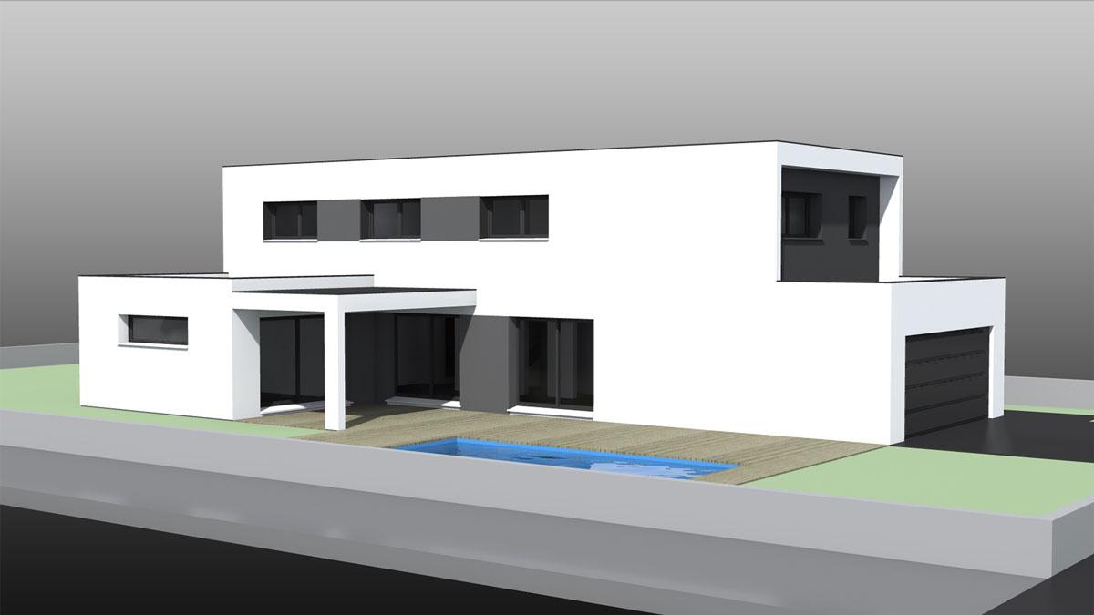 Maison moderne alsace ventana blog for Maison toit plat alsace