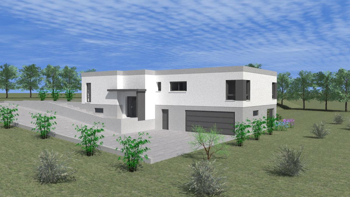 Maison plain pied garage sous-sol - Nexthome Création