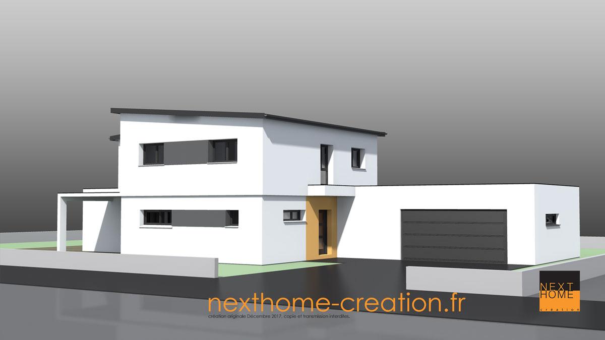 Maison Moderne Toiture Monopente Nexthome Creation