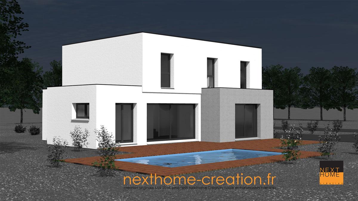Maison toit plat garage accol nexthome cr ation for Maison toit plat alsace