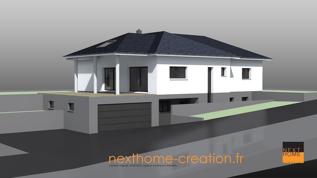 villa plain pied avec toiture 4 pans nexthome cr ation. Black Bedroom Furniture Sets. Home Design Ideas