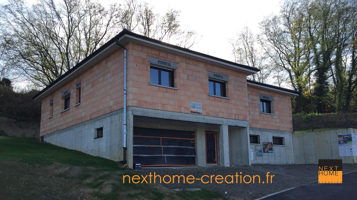 Plain Pied en cours de construction - Nexthome Création