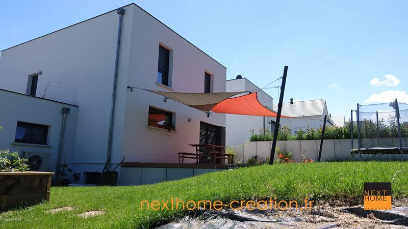Maison moderne toit plat haut rhin nexthome cr ation for Extension maison haut rhin