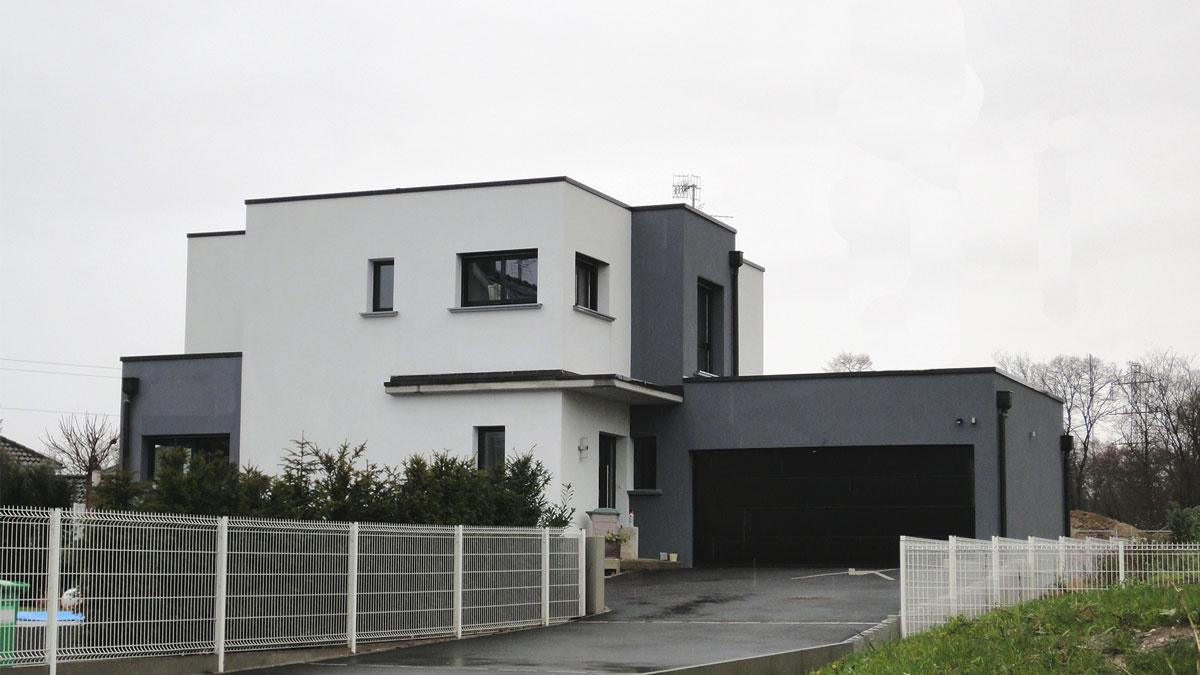 Maison moderne toit plat gallery of plan maison toit plat for Prix construction maison contemporaine toit plat