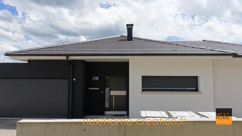 Maison plain pied contemporaine nexthome cr ation - Style de maison moderne plain pied ...