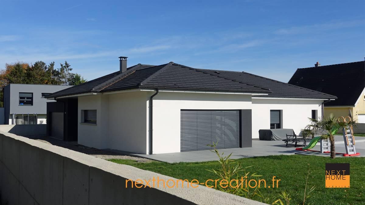 Maison plain pied contemporaine nexthome cr ation - Maison moderne plain pied 4 chambres ...